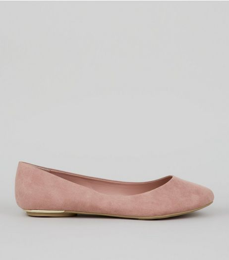 Pink Suedette Metal Trim Pumps  | New Look