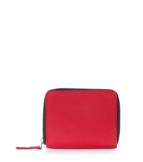Bright Red Card Holder | New Look