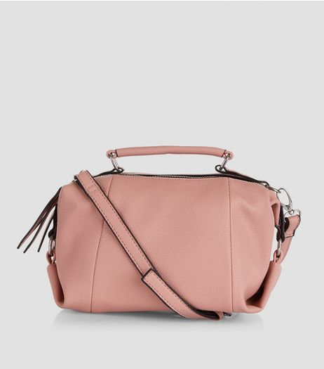 Shell Pink Mini Luggage Bag | New Look