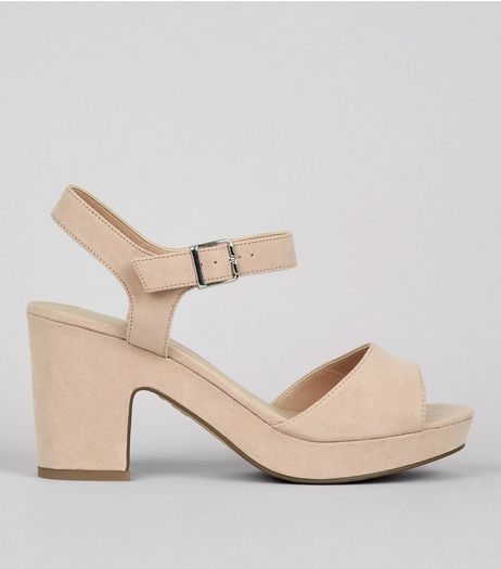 Wide Fit Cream Ankle Strap Heels | New Look