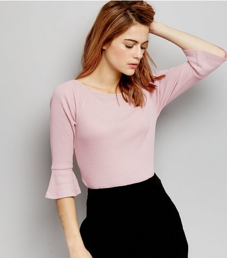 Pink Flared Sleeve Fitted To | New Look