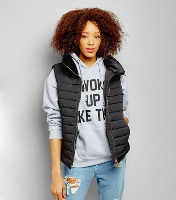 Black Fitted Padded Gilet