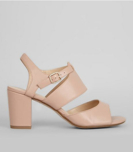Teens Nude Strappy Block Heel Sandals | New Look