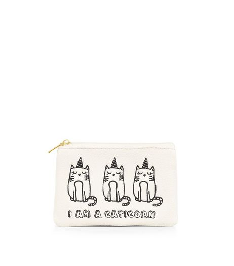 White I Am A Caticorn Purse | New Look