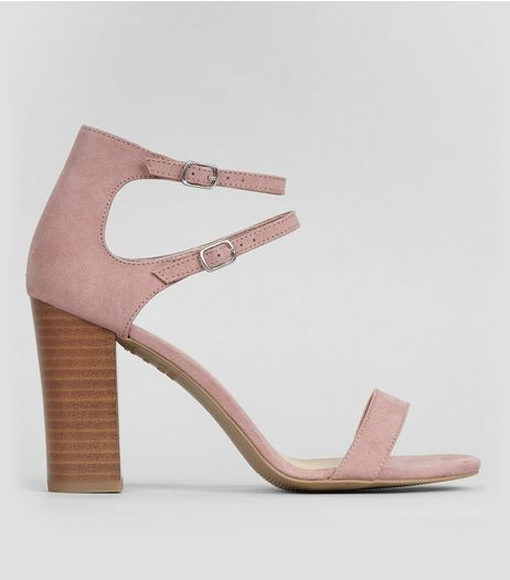 Pink Double Ankle Strap Heeled Sandals | New Look