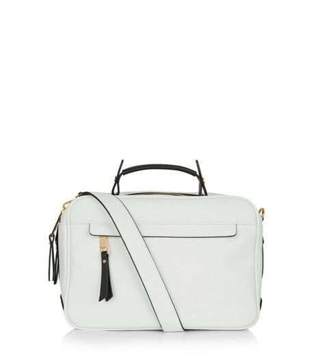White Shoulder Luggage Bag | New Look