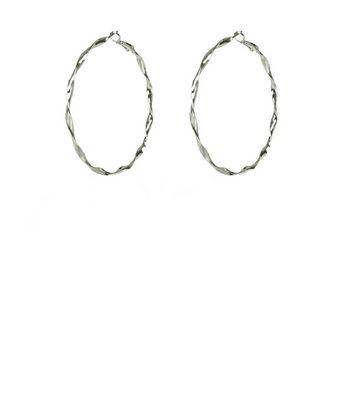 Silker Twisted Hoop Earrings