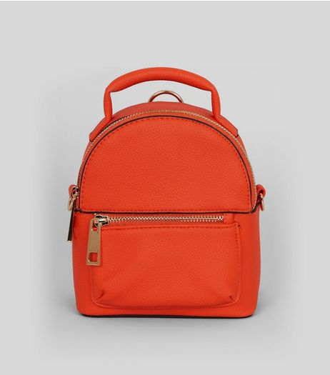 Orange Mini Backpack | New Look