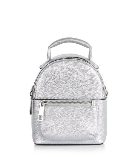 Silver Metallic Backpack  | New Look