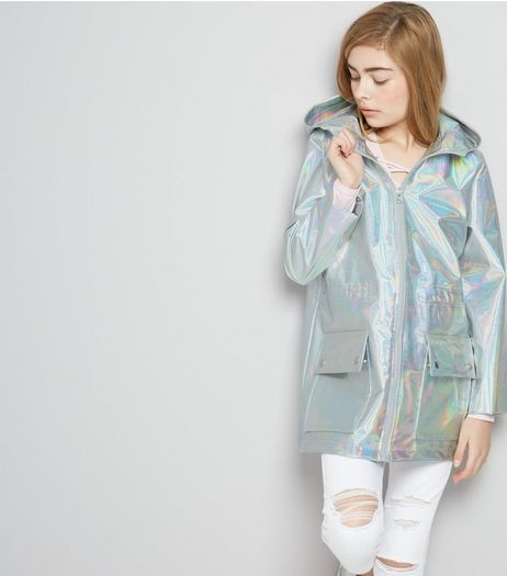 Teens Silver Metallic Anorak  | New Look