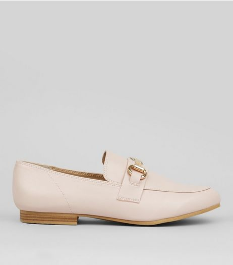 Pink Snaffle Trim Loafers | New Look