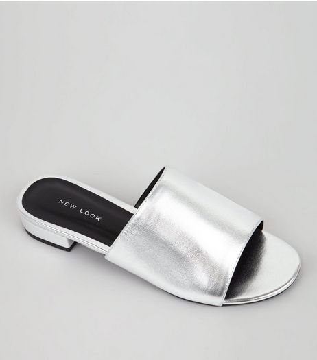 Silver Mules  | New Look