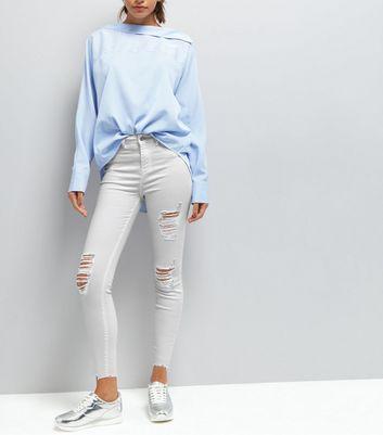 White Ripped Skinny Jenna Jeans