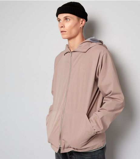 Pink Crepe Zip Front Hooded Jacket | New Look