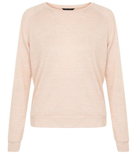 Teens Shell Pink Long Sleeve Jumper  | New Look