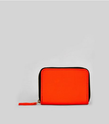 Neon Orange Cardholder | New Look