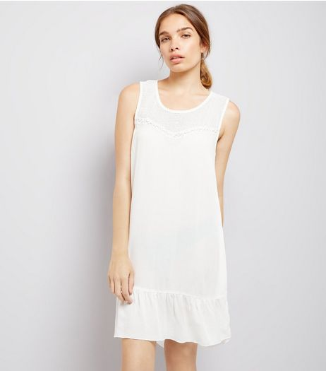 JDY White Sleeveless Dress | New Look