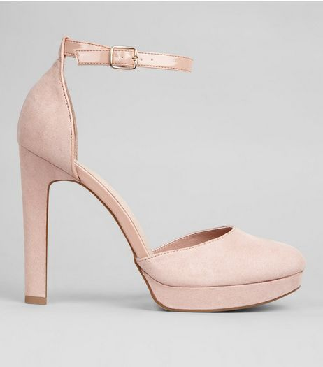 Wide Fit Pink Comfort Platform Heels | New Look