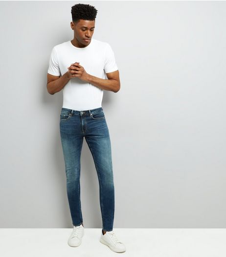 Blue Washed Skinny Stretch Jeans | New Look