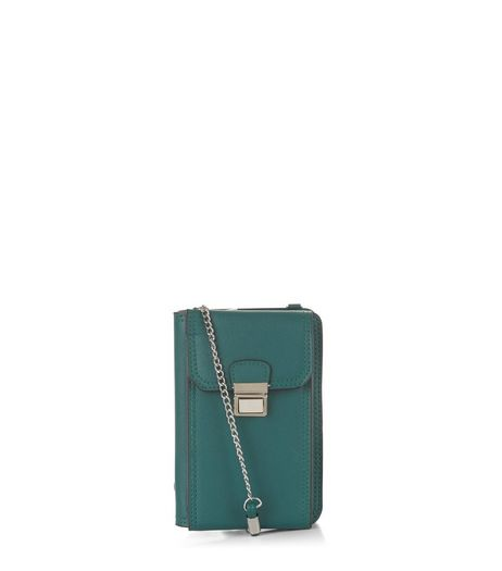 Green Leather Look Camera Bag | New Look