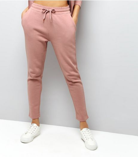 Shell Pink Tapered Joggers | New Look
