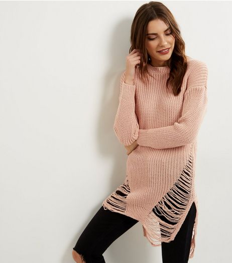 Loving This Pink Ladder Knit Jumper | New Look