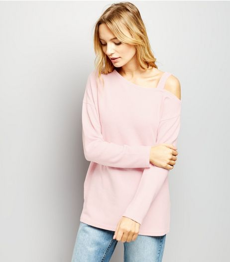 Pink Brushed Off the Shoulder Top  | New Look