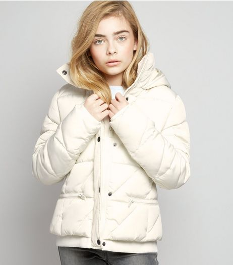 Teens White Puffer Jacket | New Look