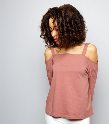 Pink Cold Shoulder Top | New Look