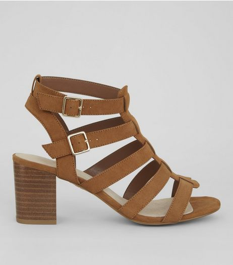 Tan Comfort Suedette Gladiator Sandals | New Look