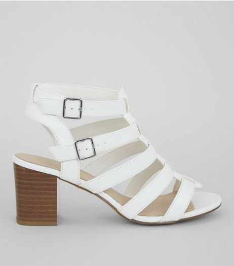 White Comfort Gladiator Sandals | New Look