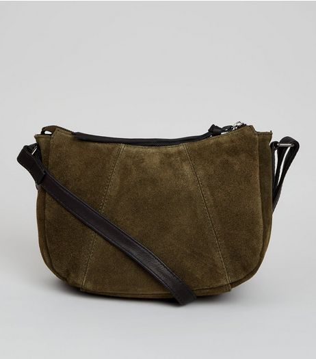 Khaki Suede Cross Body Bag | New Look