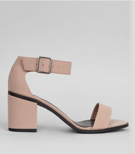 Light Pink Block Heel Sandals | New Look