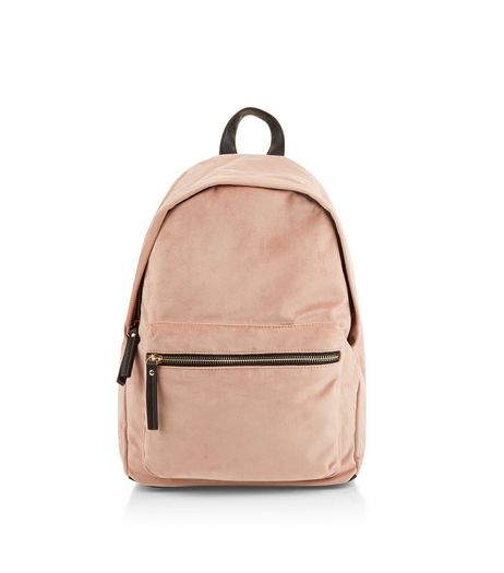 Pink Velvet Backpack | New Look
