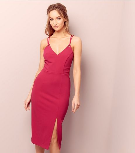 Pink Ring Strap Bodycon Dress | New Look