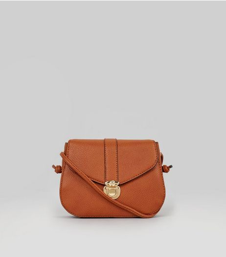 Tan Mini Saddle Bag | New Look