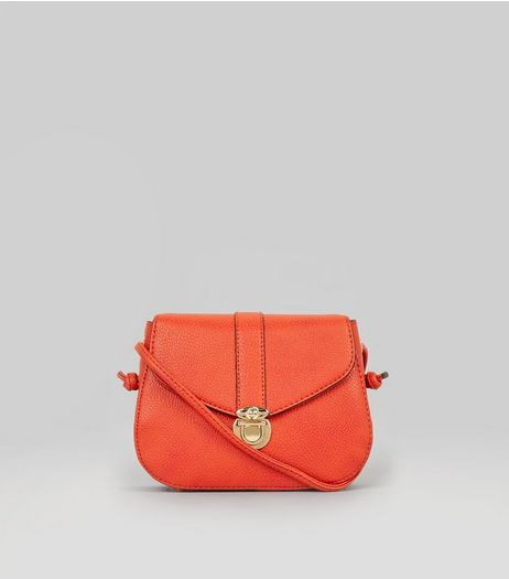 Orange Mini Saddle Bag | New Look