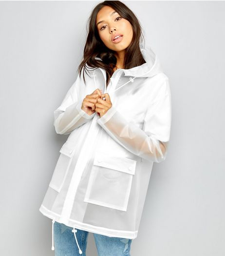 Tall White Transparent Anorak | New Look