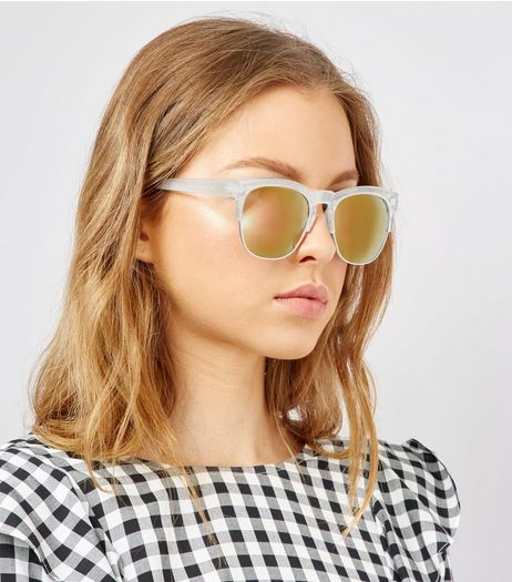 Pink Clear Sunglasses | New Look
