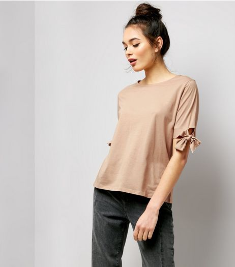 Pink Tie 1/2 Sleeve T-Shirt  | New Look