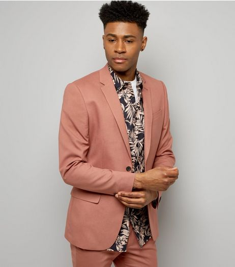 Deep Pink Suit Jacket  | New Look