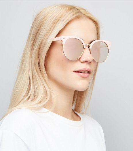 Pink Round Mirror Lens Sunglasses | New Look
