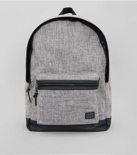 Grey Chambray Backpack  | New Look