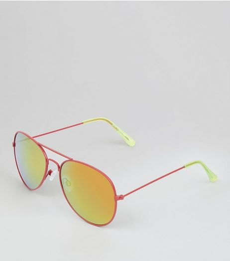 Pink Pilot Sunglasses | New Look