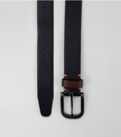 Navy Leather Belt | New Look