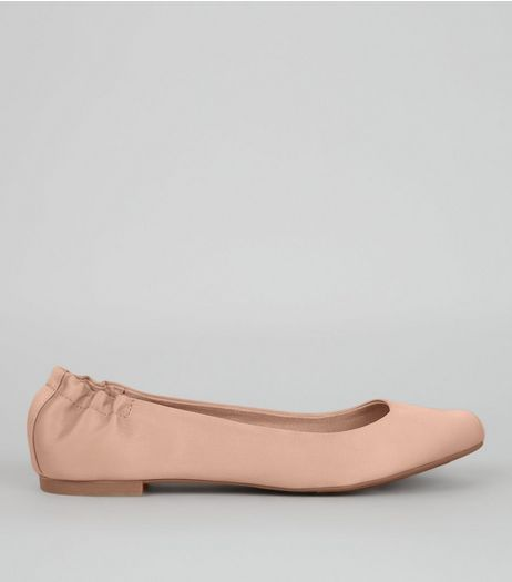 Pink Sateen Sqaure Toe Pumps | New Look
