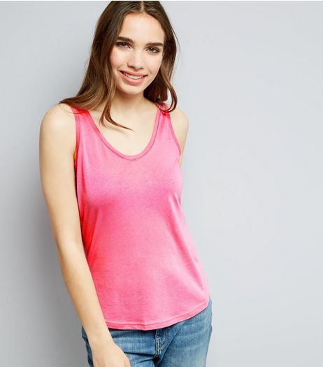 Pink Scoop Neck Vest  | New Look