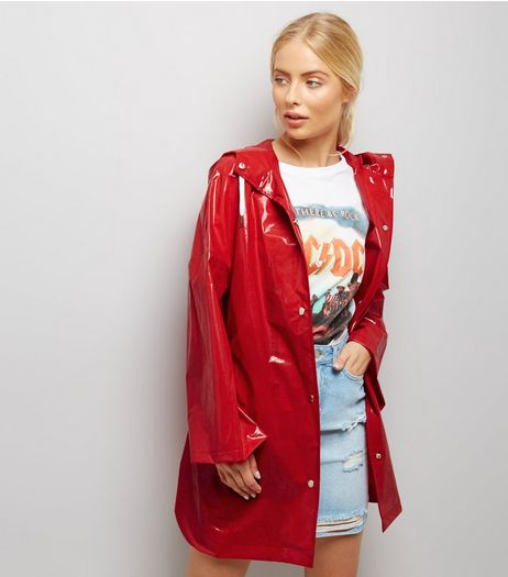Red Oversized Hooded Anorak | New Look