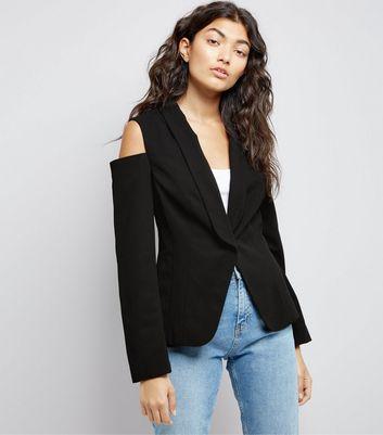 Black Cold Shoulder Jacket