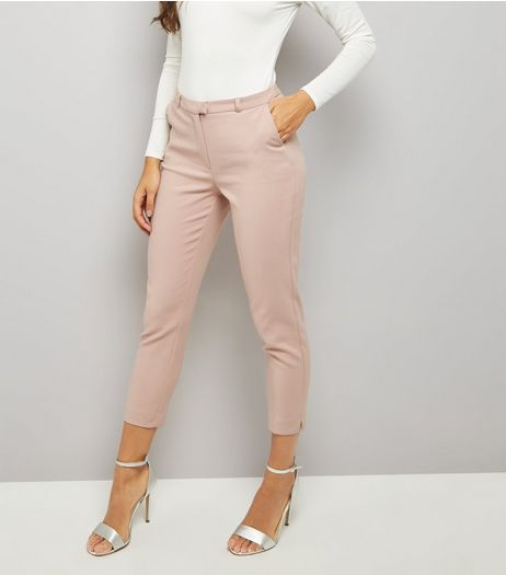 Pink Premium Cropped Suit Trousers | New Look